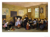 In the Schoolroom Giclee Print by Theophile E. Duverger