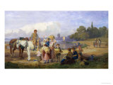 On the Tow Path, Walton on Thames Giclee Print by John Absolon