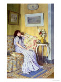 Pensive Mood Giclee Print by Roger Jourdain