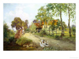 Family Outing Giclee Print by Henry John Yeend King