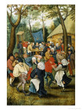 The Wedding Dance Reproduction procédé giclée par Pieter Brueghel the Younger
