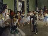 The Dance Class, c.1875 Giclee Print by Edgar Degas