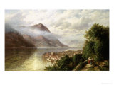 View in the Italian Lakes Giclee Print by Hermann Corrodi