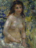 Female Nude in the Sun, c.1875 Giclee Print by Pierre-Auguste Renoir