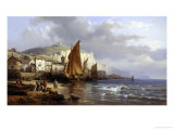 Yport, Normandy Giclee Print by Charles Kuwasseg