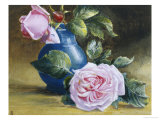 Romantic Pink Roses Giclee Print by Blanche Lindsay
