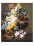 Still Life of Summer Flowers Giclee Print by Elise Bruyere