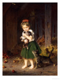 Kittens, c.1865 Reproduction proc&#233;d&#233; gicl&#233;e par Ludwig Knaus
