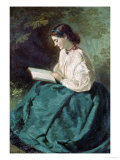 Reading, c.1865 Giclee Print by Jerry Barrett