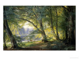 Forest Glade Giclee Print by Carl Frederic Aagaard