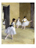 Ballet Room at the Opera in Rue le Peletier, c.1872 Posters by Edgar Degas