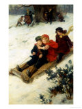 The Sleighride Giclee Print by George S. Knowles