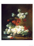 Still Life of Christmas Roses Giclee Print by Charles E.g. Guerin