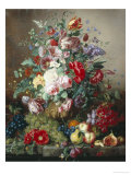 Rich Still Life of Lilac and Roses Giclee Print by Amalie Kaercher