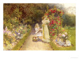 In the Rose Garden Giclee Print by Thomas J. Lloyd