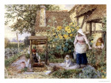 Cottage Well Giclee Print by Myles Birket Foster