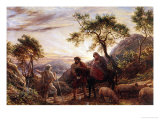 Flight Into Egypt Giclee Print by James Thomas Linnell