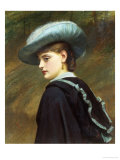 The Blue Hat Giclee Print by Charles Lidderdale