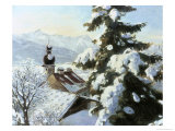 Picturesque Snow Scene Giclee Print by William Krause