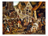 The Seven Acts of Mercy Giclee Print by Pieter Brueghel the Younger
