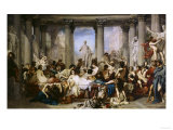 The Romans of Decadence, c.1847 Art by Thomas Couture