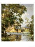 The Mill Pond, Houghton, Huntingdonshire Gicléetryck av William Blacklock