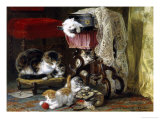 Mischief Makers Giclee Print by Henriette Ronner Knip