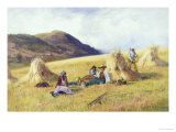 Haymaking Giclee Print by Peter Ghent