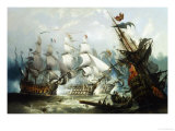 The Battle of Trafalgar, c.1875 Giclée-Druck von John Callow