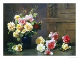 Still Life of Roses Giclee Print by Olaf August Hermansen
