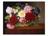 Rich Still Life of Flowers Giclee Print by Mathias Grove