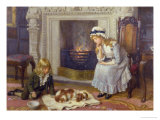 Nursing a Treasured Pet Gicléetryck av Charles Haigh-Wood
