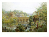 Summer's Day, Abingdon, Oxfordshire Giclee Print by Charles Gregory