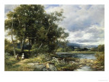 Summertime on the Brathay Giclee Print by David Bates