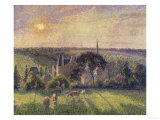 Landscape at Eragny, c.1895 Giclee Print by Camille Pissarro