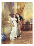 Hearts and Trumps Giclee Print by George Goodwin Kilburne