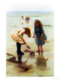 Playing on the Beach Giclee Print by William Liddall Armitage