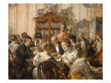 The Bridge Party Giclee Print by Edgar Bundy