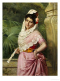 Elegant Spanish Beauty Giclee Print by John Bagnold Burgess