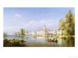 Continental River Scene, c.1872 Giclee Print by Charles Kuwasseg