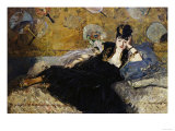 The Lady with the Fans, c.1873 Posters by Édouard Manet