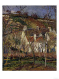 The Red Roofs, c.1877 Giclee Print by Camille Pissarro