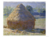 Haystack, Late Summer, c.1891 Reproduction procédé giclée par Claude Monet
