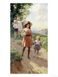 Wild Roses Giclee Print by Percy Tarrant