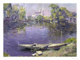 The Seine at Mantes Giclée-tryk af Paul Mathieu