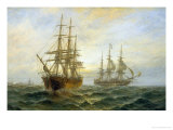 Frigate Outward Bound off Shoeburyness Giclee Print by Claude T. Stanfield Moore