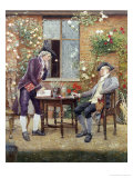 The Rival Florists in Deep Discussion (detail) Giclee Print by Edward Killingworth Johnson