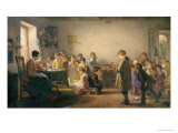 Classroom Recital Giclee Print by Thomas Webster