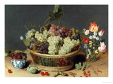 Still Life of Grapes in a Basket Giclee Print by Isaac Soreau