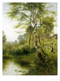 Walk Down by the River Giclee Print by Ernest Parton